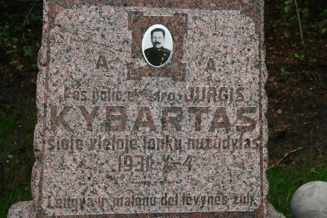 The place of death of Lithuanian border guard Jurgis Kybartas